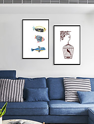 cheap -Framed Art Print Framed Set - Animals Cartoon PS Poster Wall Art