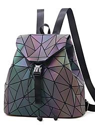 abordables -Phosphorescent Polyester PU Paillette / Paillettes sac à dos Bloc de Couleur Quotidien Violet Claire / Automne hiver