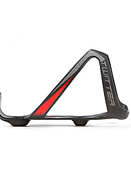cheap -Bike Water Bottle Cage Carbon Fiber Portable Lightweight Wearable Easy to Install For Cycling Bicycle Road Bike Mountain Bike MTB Folding Bike Fixed Gear Bike Carbon Fiber Black / White Black / Red