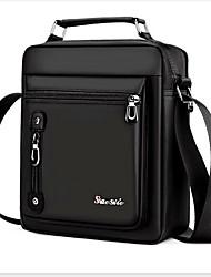 cheap -Men's Zipper Oxford Cloth Briefcase Solid Color Black / Brown