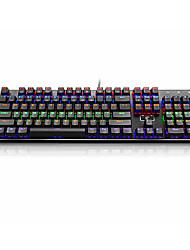 abordables -e-element clavier mécanique avec câble 104 touches usb clavier rgb plaque de titane mécanique clavier pc