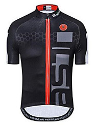 cheap -21Grams Men's Short Sleeve Cycling Jersey - Black Bike Jersey Top Breathable Moisture Wicking Quick Dry Sports Polyester Elastane Terylene Mountain Bike MTB Road Bike Cycling Clothing Apparel