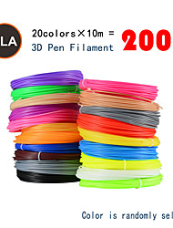 cheap -Myriwell PLA 1.75mm filament 20colors 10m Random color selected 3d printed pla 1.75mm 3d pen plastic 3d printer pla filament 3d pens pla Environmental Safety