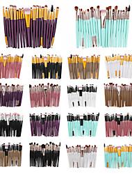 Недорогие -профессиональный Кисти для макияжа 20 Экологичные Для профессионалов Закрытая чашечка обожаемый удобный Пластик за