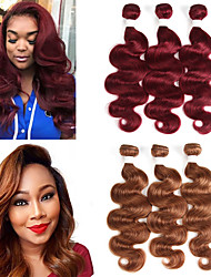 cheap -3 Bundles Brazilian Hair Body Wave Remy Human Hair Human Hair Extensions 10-26 inch Human Hair Weaves Soft Best Quality New Arrival Human Hair Extensions