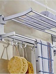abordables -étagère de salle de bain multifonction moderne en acier inoxydable 1pc - salle de bain double mural