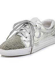cheap -Women's Sneakers Flat Heel PU(Polyurethane) Fall / Spring & Summer Silver / Red