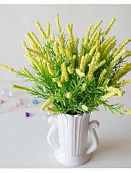 abordables -1pc lavande 7 fourche haute qualité mousse plastique plastique mousse artificielle plante de fleur Vente en gros haute qualité faux fleur mousse chambre salon décoration de la maison faux plante de la