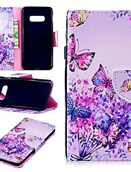 cheap -Case For Samsung Galaxy S9 / S9 Plus / S8 Plus Wallet / Card Holder / Shockproof Full Body Cases Butterfly Hard PU Leather