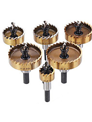 cheap -6pcs HSS 9341 22-53mm Titanium Coated Hole Saw Cutter 22/35/40/45/50/53mm Hole Sawtooth Cutter