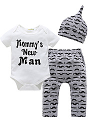 cheap -Baby Boys' Casual / Active Print Print Short Sleeve Regular Clothing Set White
