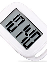 cheap -AU-878 Electronic Pedometer Other OS Outdoor / Phone Strap / Pedometers Gravity Sensor PP+ABS / Neoprene Pure White