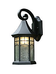 cheap -Glass Wall Light Fixtures Waterproof Wall Sconces American Outdoor LED Wall Light Black Wall Lamp for Balcony Terrace