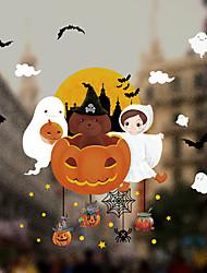 Недорогие -Оконная пленка и наклейки Украшение С узором / Хэллоуин Геометрический принт / Персонажи ПВХ Стикер на окна