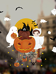 cheap -Window Film & Stickers Decoration Patterned / Halloween Geometric / Character PVC(PolyVinyl Chloride) Window Sticker