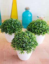 abordables -1 pc simulation plante bonsaï 32-mesh bambou herbe plante décoration boule de fleur boule en boule décoration en pot décoration de la maison petits ornements
