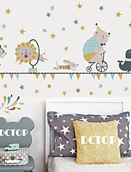 cheap -Creative Diy Color Palm Print For Children'S Bedroom Kindergarten Living Room And Self-Adhesive Wallpaper Sticker Decorative Wall Stickers - Plane Wall Stickers Shapes / Still Life Kids Room / Nursery