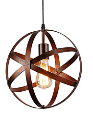 cheap -30cm Vintage Industrial Metal Spherical Pendant Lights Dining Room  Kitchen Cafe Hanging Lighting Fixture Painted Finish