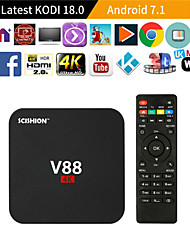 cheap -V88 RK 3229 Smart TV Set Top Box 1GB8GB Android 5.1 TV 4K Set Top Box WiFi Box MINI for Smart TV with 4 USB Port for 3D Movie