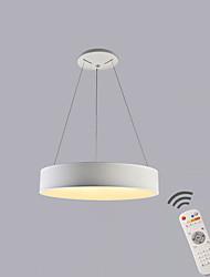 Недорогие -круг подвесной светильник рассеянный свет окрашенный металл металлический затемняемый с дистанционным управлением