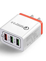 Недорогие -30 Вт QC 3.0 быстрое зарядное устройство 3 порта USB-концентратор настенное зарядное устройство