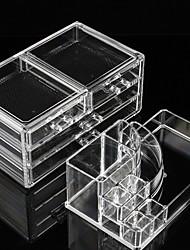 cheap -Storage Organization Cosmetic Makeup Organizer Acrylic Rectangle Shape Single-layer