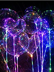 cheap -1pc Luminous Led Balloon Transparent Round Bubble Decoration Birthday Party Wedding Decor LED Balloons Christmas Gift