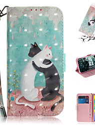 cheap -Case For Samsung Galaxy Galaxy A7(2018) / A3(2017) / A5(2017) Wallet / Card Holder / with Stand Full Body Cases Animal / 3D Cartoon PU Leather