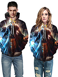cheap -Women Men 3D Printing Cosplay Costume Hooded Jacket Pullover