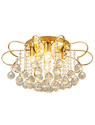 cheap -4 Lights Crystal Ceiling Lamp Modern Luxury Raindrop Crystal Pendant Light Gold Chandeliers Crystal Beads Deco For Bedroom Dining Hall