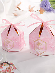 cheap -Cylinder Card Paper Favor Holder with Ribbons Gift Boxes - 50 Pieces