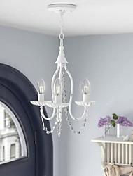 cheap -3-Light 33 cm Mini Crystal Chandelier Aero Snail Candle Ceiling Lamp Pendant Fixture for Dining Room Bathroom Foyer Living Room