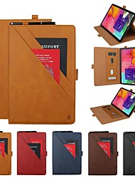 cheap -Phone Case For Samsung Galaxy Full Body Case Tab A2 10.5(2018) Samsung Tab A 10.1(2019)T510 Galaxy S3 T820 9.7 Samsung Tab S6 T860/865 Wallet Card Holder with Stand Solid Colored PU Leather