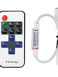 cheap -1pcs 11 Keys RF LED Strip Controller Mini Dimmer RF Remote DC 5V 12V 24V Controller For LED 5050 2835 Strip Single Color