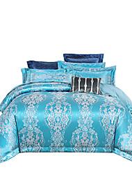 Недорогие -Озеро Голубой намек блестящий принцесса 250 т роскошный отель премиум класса жаккард из чистого хлопка сантен из четырех частей постельного белья