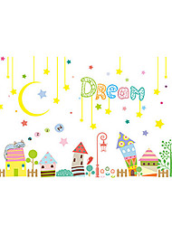 cheap -Decorative Wall Stickers - Plane Wall Stickers Stars / Hearts Bedroom