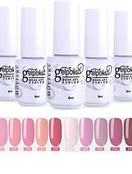 cheap -Nail Polish 12 Pcs color 133-144 xyp  Mottled Soak-Off UV/LED Gel Nail Polish Solid Color Nail Lacquer Sets