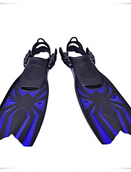 cheap -Diving Fins Long Blade Adjustable Strap Diving Snorkeling Silicone Neoprene - for Kids