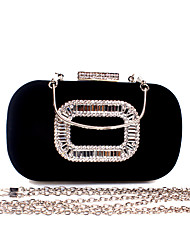 cheap -Women's Bags Velvet Evening Bag Crystals Solid Color Party Event / Party Holiday Wine Black Blue Purple