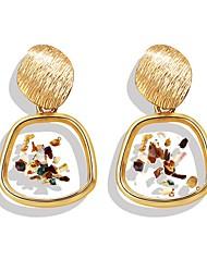 cheap -Women's Drop Earrings Hoop Earrings Earrings Geometrical Drop Shell Vintage Bohemian Ethnic Fashion Earrings Jewelry Gold For Party Gift Daily Carnival Holiday 1 Pair