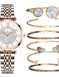 cheap -Women's Quartz Watches Luxury New Arrival Silver Rose Gold Stainless Steel Chinese Quartz Silver Rose Gold Chronograph Cute New Design 1 set Analog One Year Battery Life