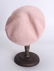 abordables -Paille Chapeaux avec Couleur Unie 1 Pièce Décontracté / Usage quotidien Casque