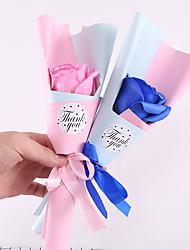 Недорогие -Искусственные цветы Недвижимость сенсорный Свадебные цветы Букет Букеты на стол Букет 1