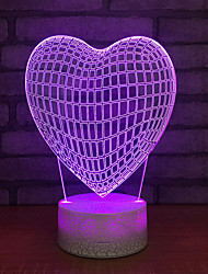 cheap -Romantic Love Led Colorful 3d Touch Darkening Table Lamp Energy Saving Table Lamps Valentine's Day Gift 3d Ub nightlight