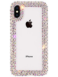 cheap -Case For Apple iPhone XS / iPhone XR / iPhone XS Max Rhinestone Back Cover Solid Colored Soft TPU