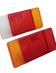 cheap -Car Rear Tail Light Lens Cover Plastic 303x132mm Pair for Iveco Eurocargo Daily for Peugeot