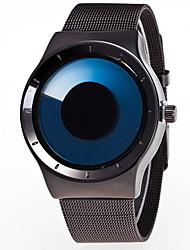 cheap -Men's Dress Watch Quartz Fashion Casual Watch Analog Fuchsia Green Light Blue / Stainless Steel