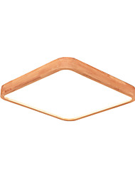 cheap -1-Light Wooden Ceiling Lamp Square Shape Flush Mount Led Light For Bedroom Kid's Room Nordic Simple Design Close To Ceiling Fixtures