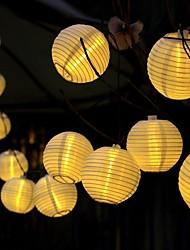 cheap -20 LED Solar-Powered Lantern String Light Yard Garden Festival Wedding Decoration