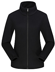 cheap -DZRZVD® Women's Hiking Fleece Jacket Winter Outdoor Thermal / Warm Windproof Breathable Winter Jacket Top Fleece Full Length Visible Zipper Outdoor Exercise Back Country Mountaineering Black